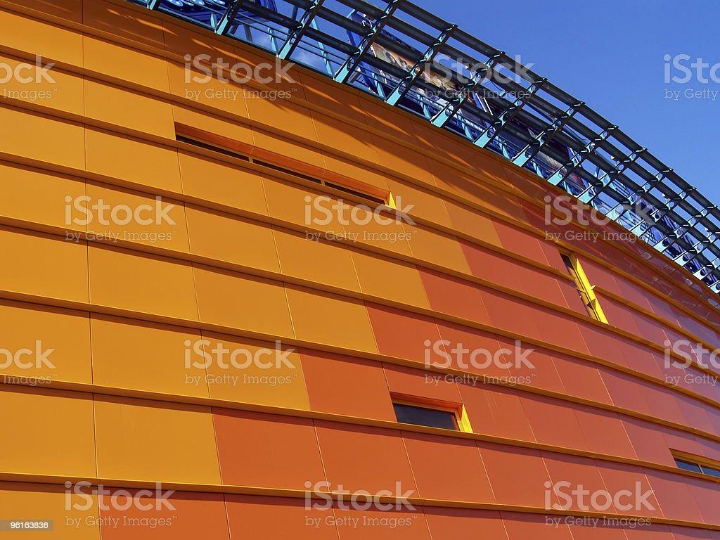 Orange building [4] stock photo
