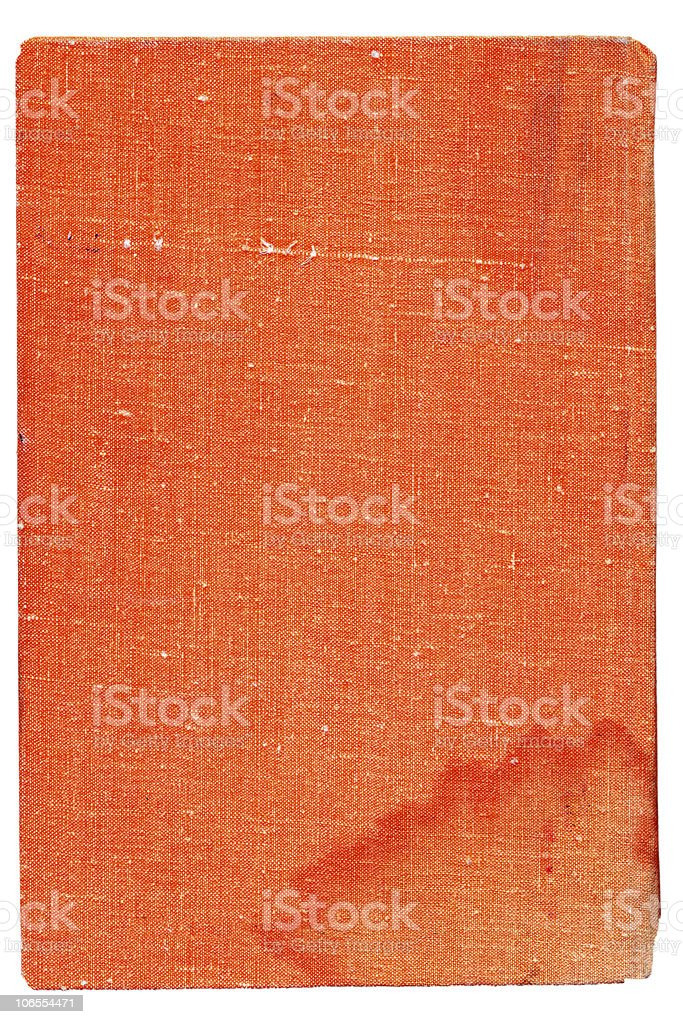 Orange burlap canvas. Over white royalty-free stock photo