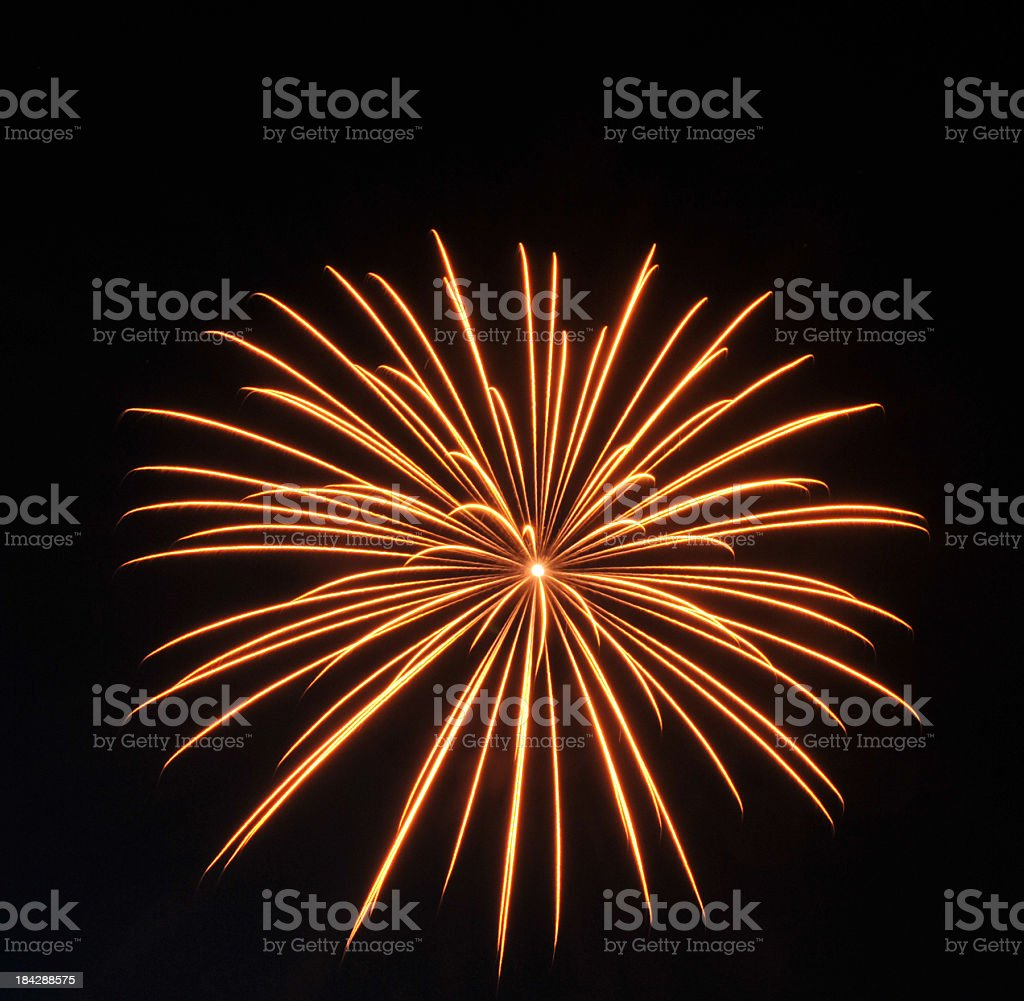 Orange Burst royalty-free stock photo