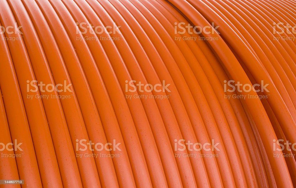 orange cable spool royalty-free stock photo
