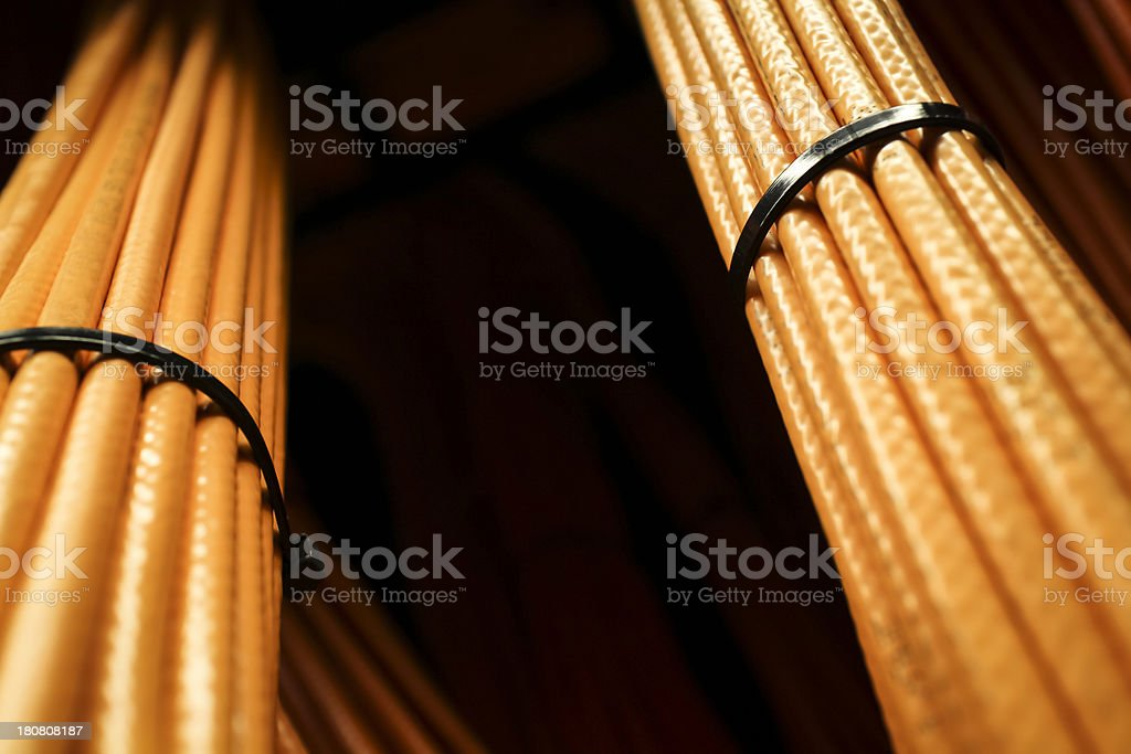 Orange Cables royalty-free stock photo