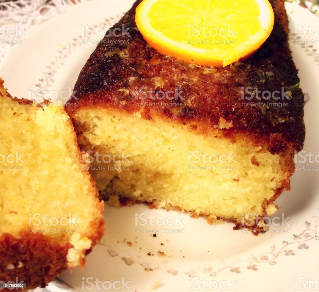 gateaux orange stock photo