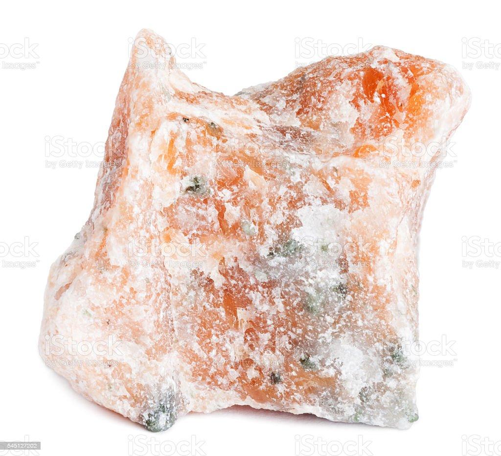 Orange calcite crystal stock photo