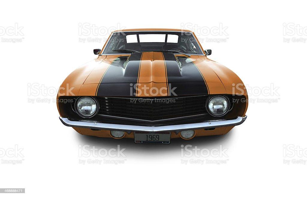 Orange Camaro Muscle Car stock photo