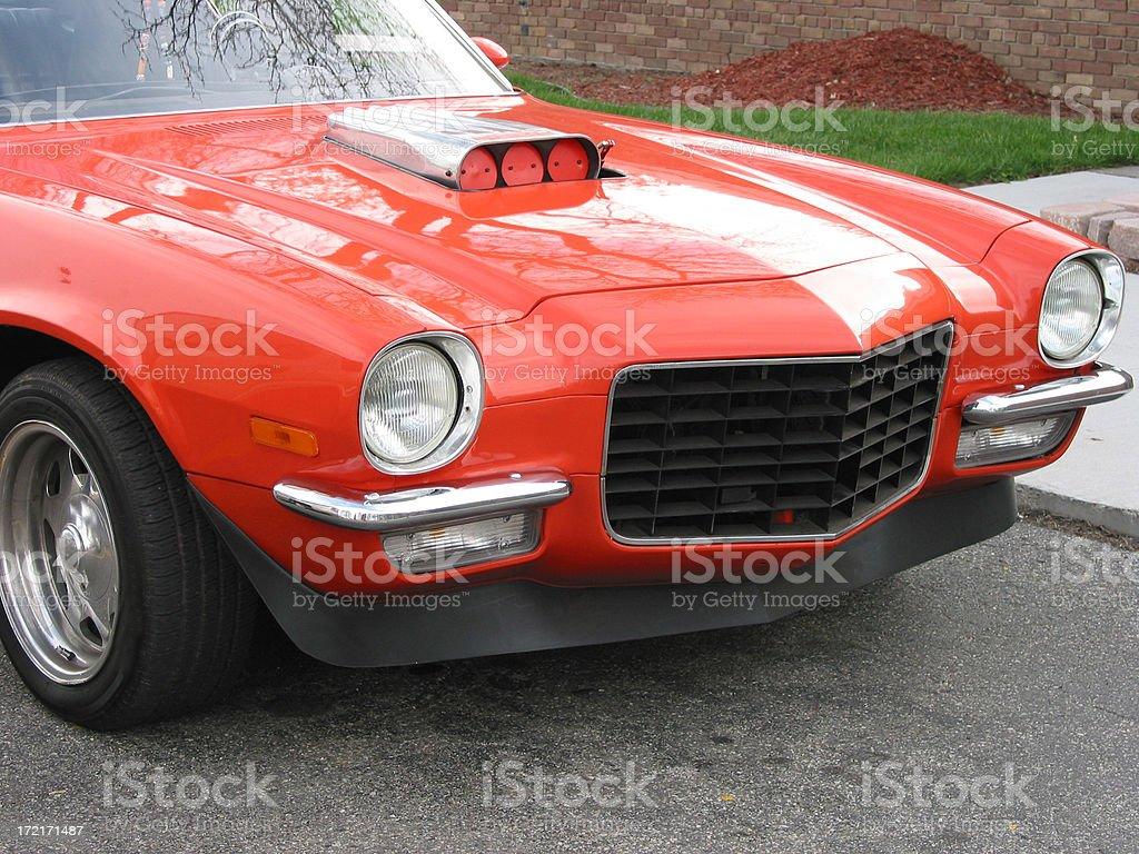 Orange Camaro SS with Carb royalty-free stock photo