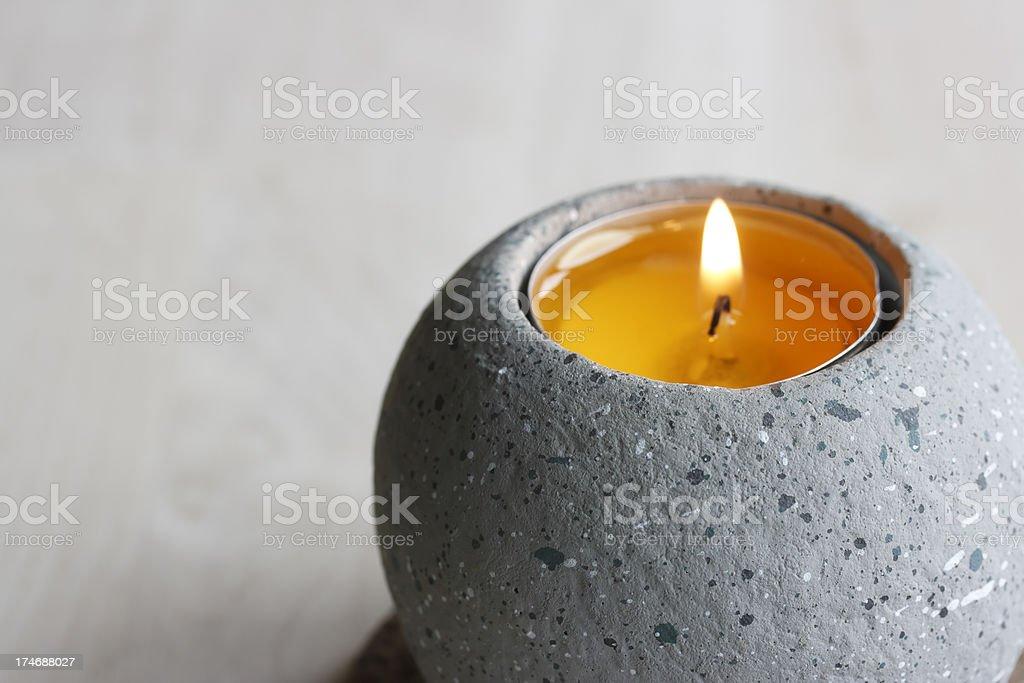 Orange  Candle royalty-free stock photo