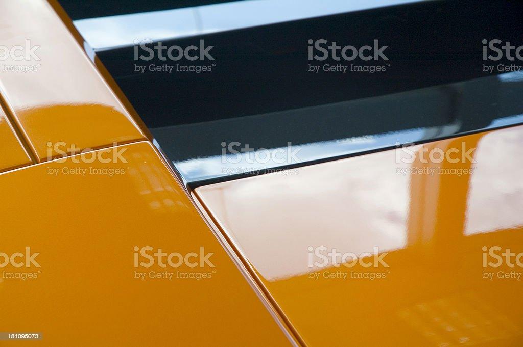 Orange car detail stock photo