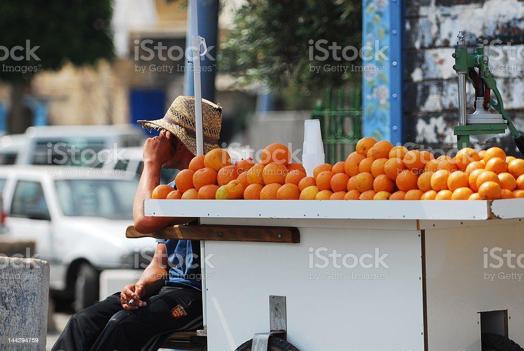 Orange Cart royalty-free stock photo