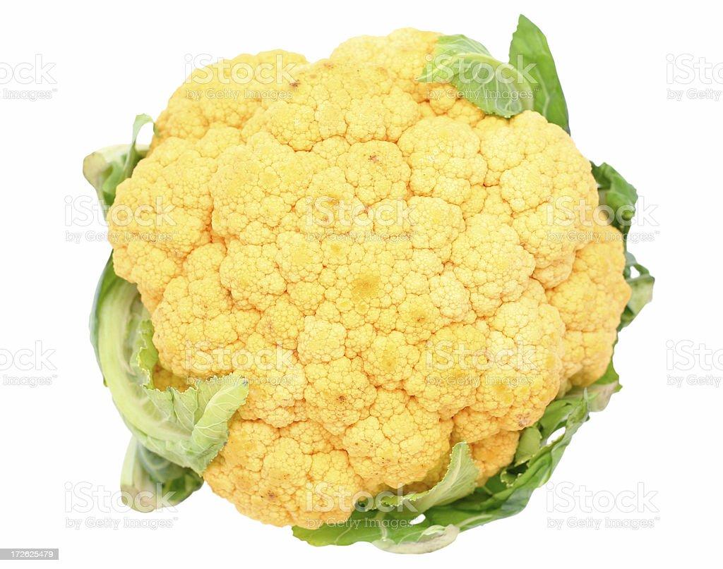 orange cauliflower stock photo