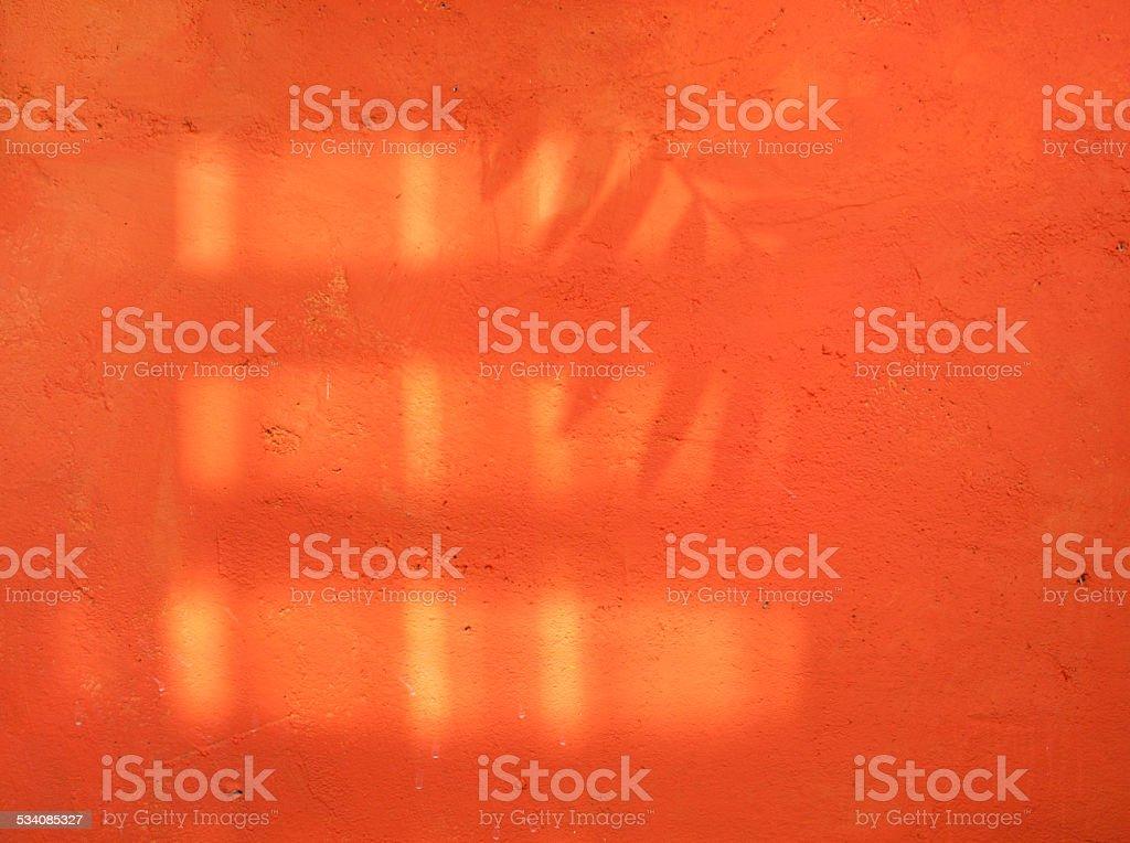 Orange cement wall royalty-free stock photo