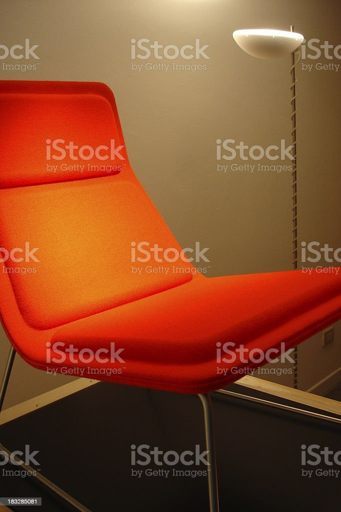 Orange Chair royalty-free stock photo