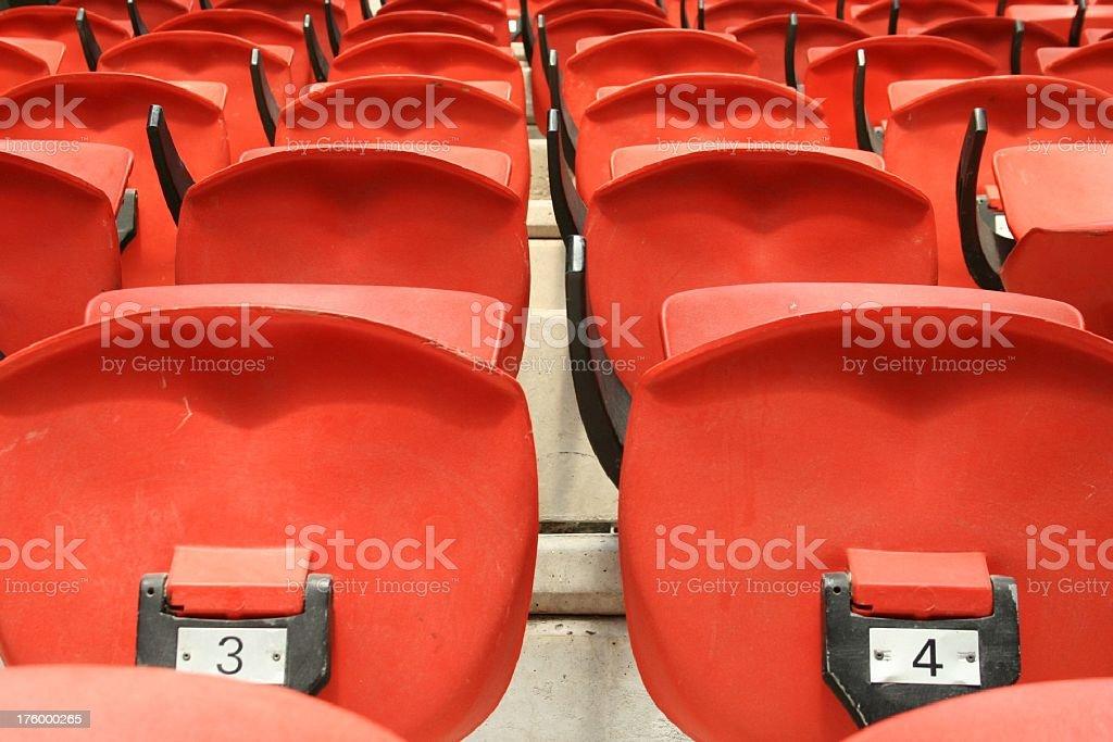 Orange Chairs up close stock photo