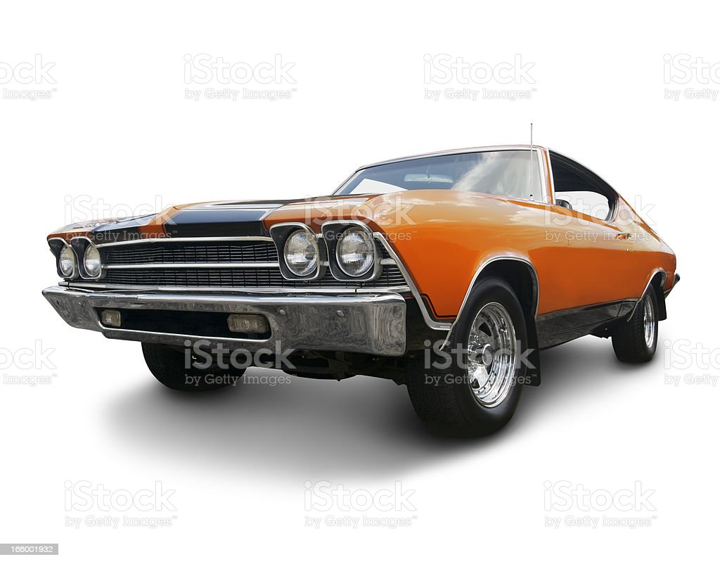 Orange Chevrolet Chevelle 1969 stock photo