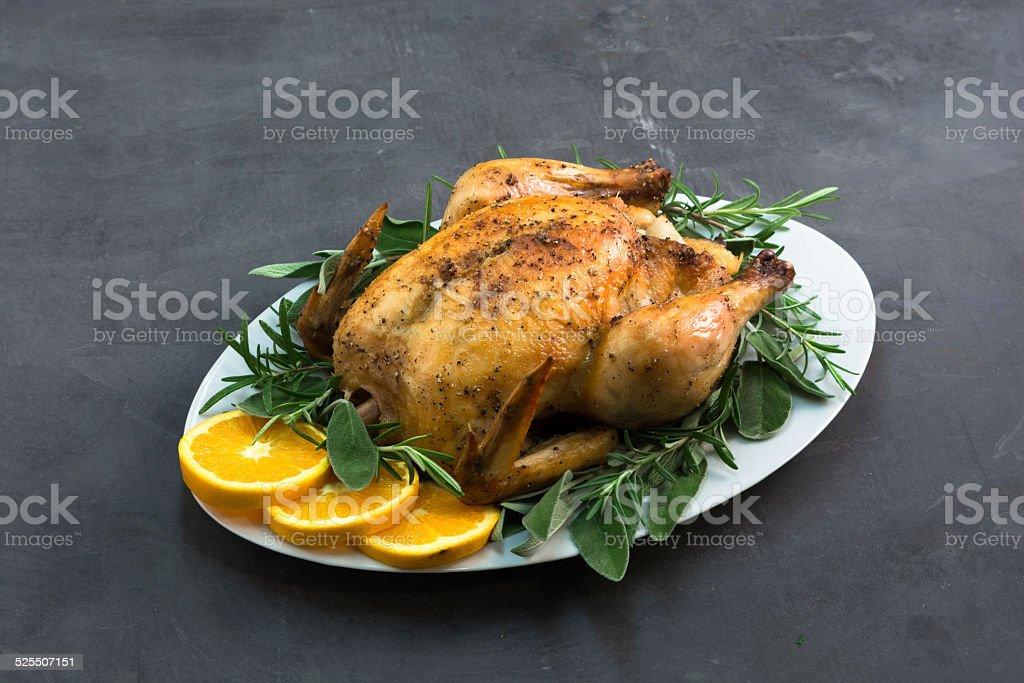 Orange Chicken Dinner stock photo