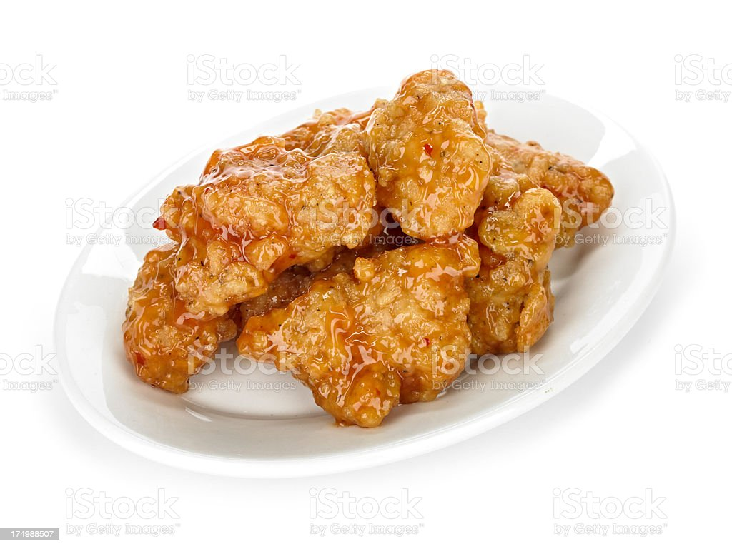 Orange Chicken stock photo