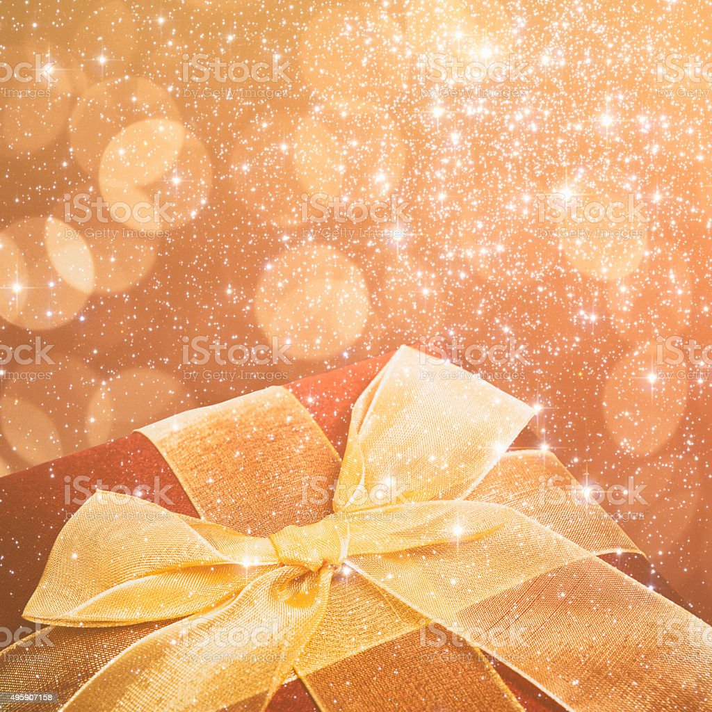 Orange Christmas Present stock photo