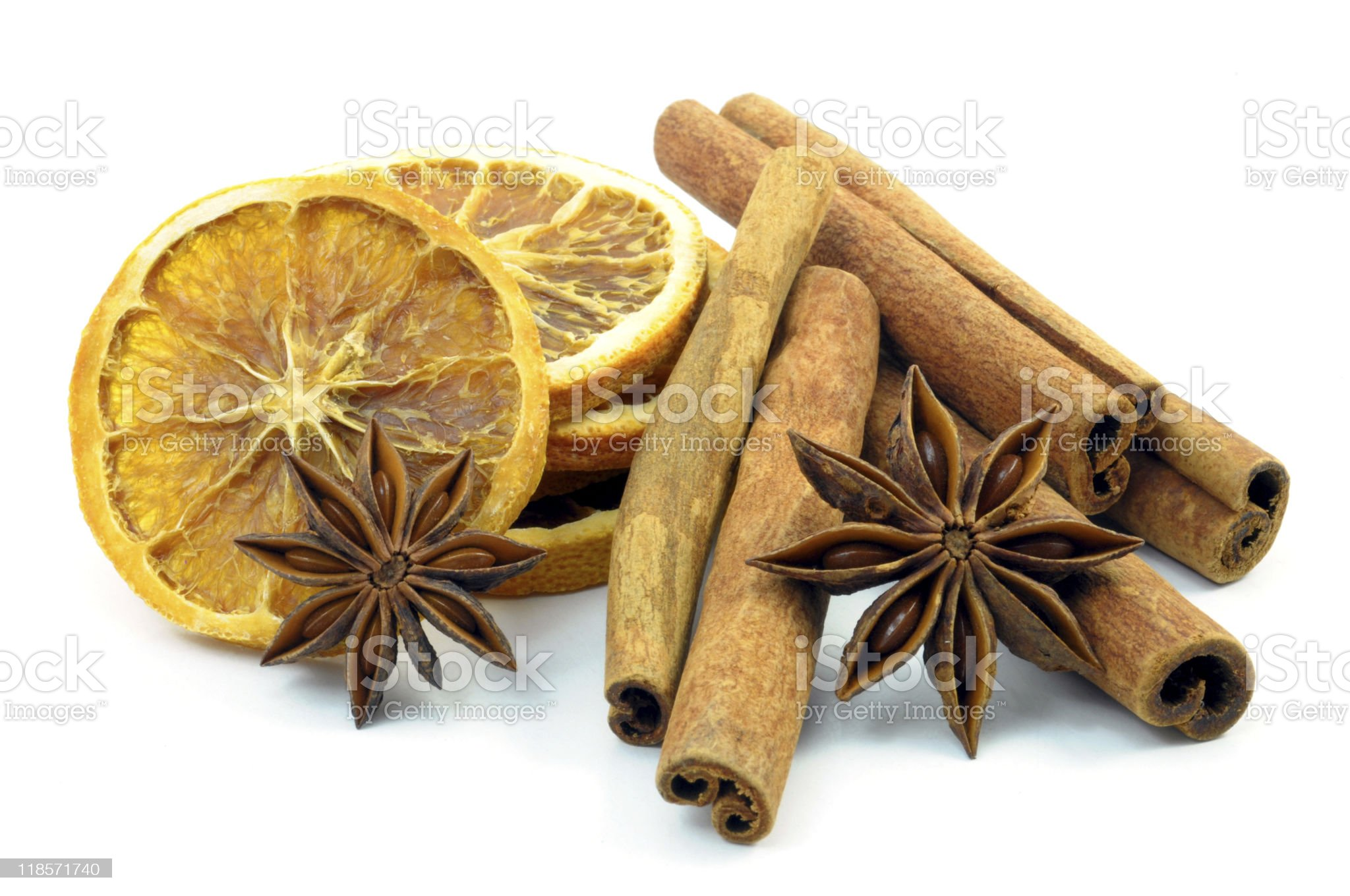 orange,  cinnamon and anise royalty-free stock photo