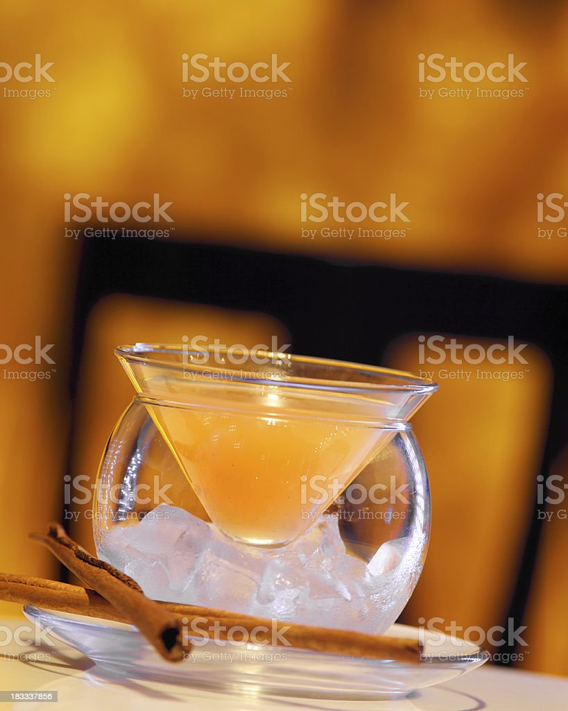 Orange Cinnamon Cocktail royalty-free stock photo