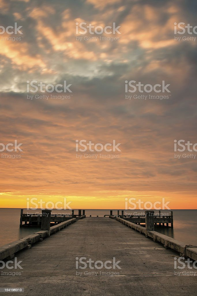 Orange cloudscape royalty-free stock photo