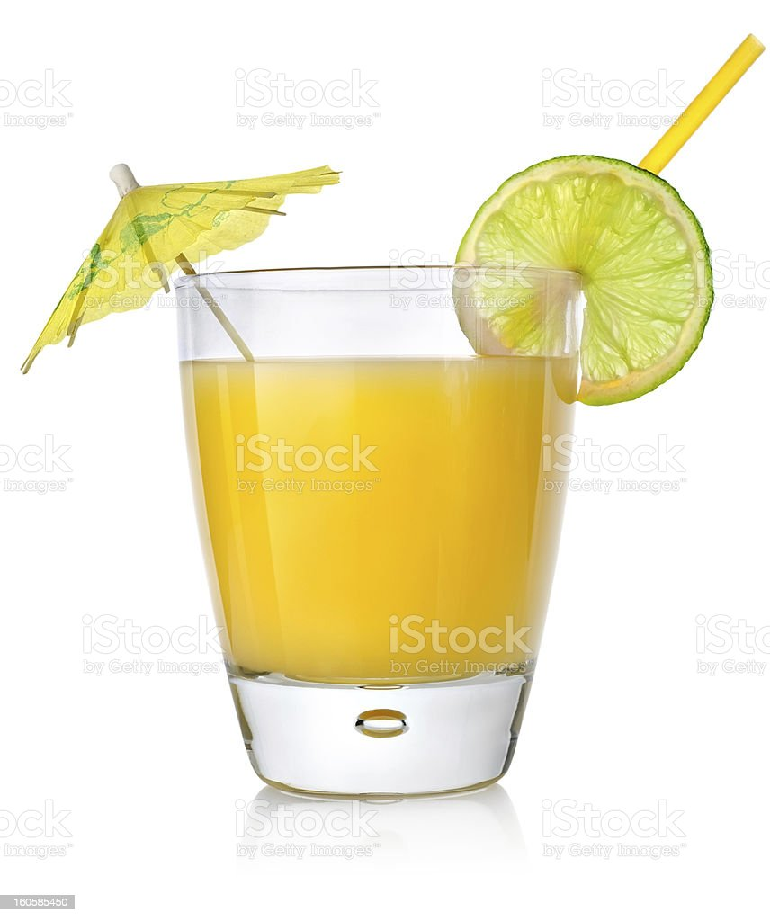 Orange cocktail in a glass royalty-free stock photo