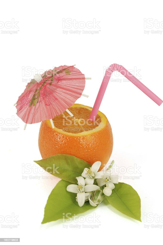Orange cocktail royalty-free stock photo