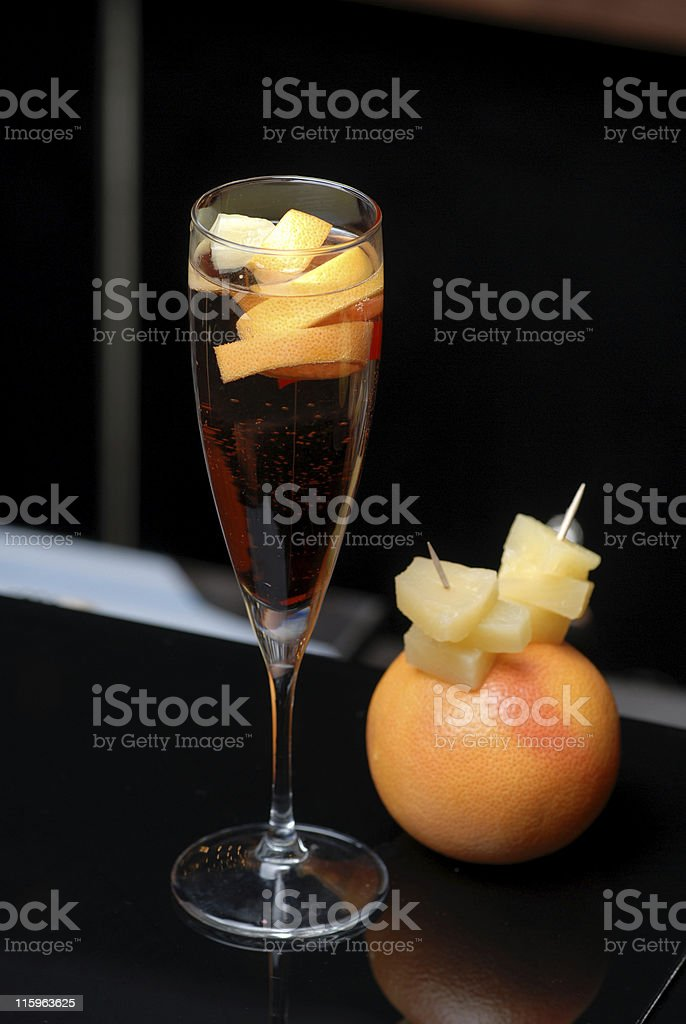 Orange Cocktail with gin stock photo