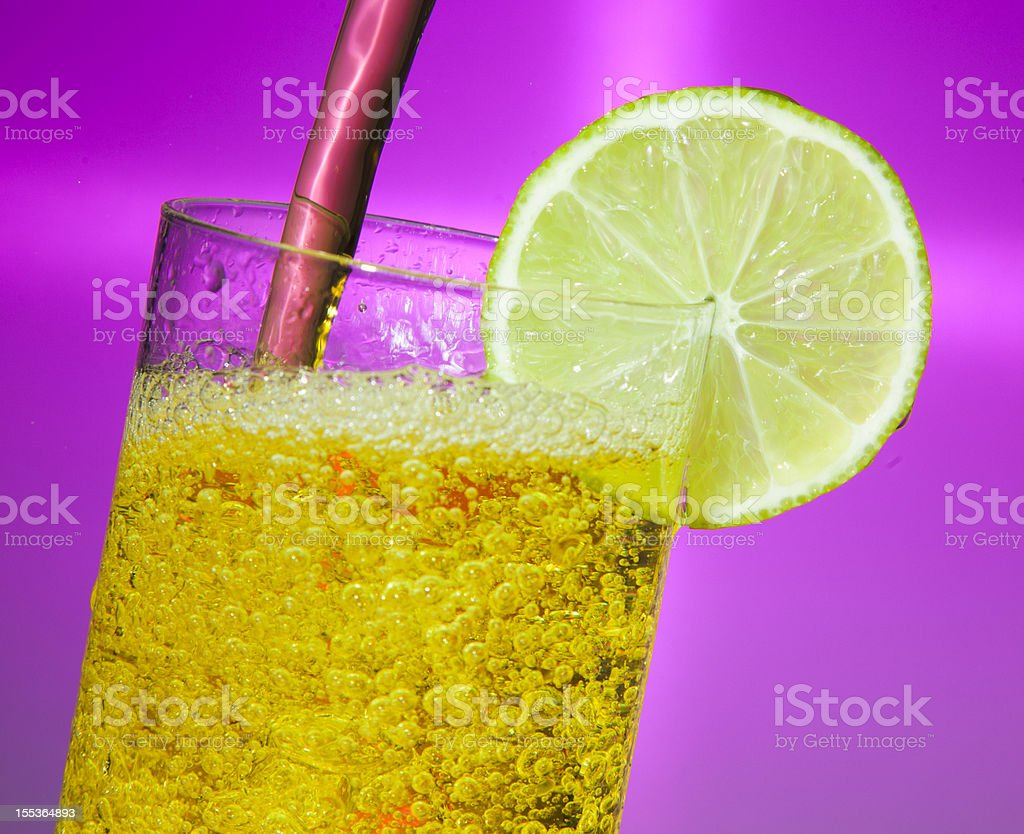 Orange Cocktail - with Lime royalty-free stock photo