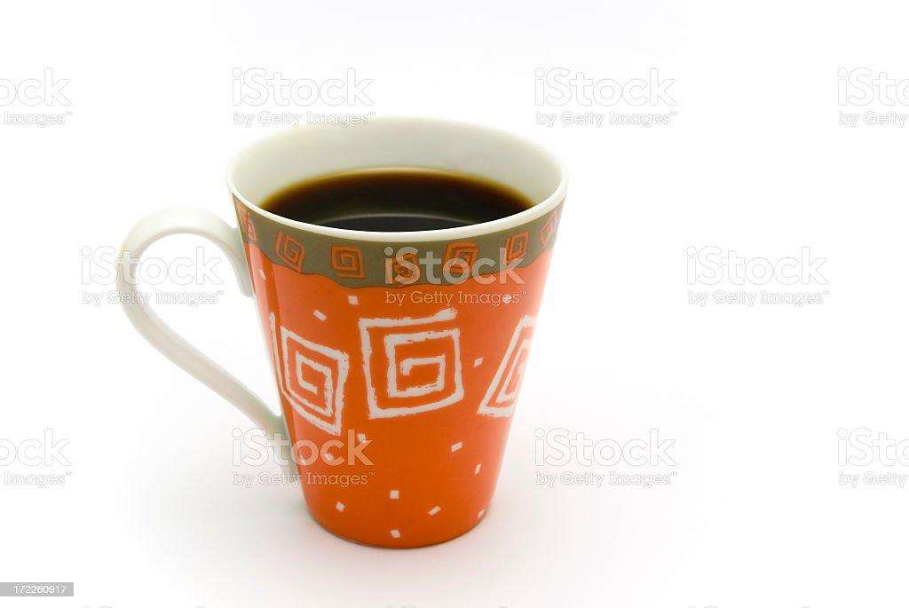 Orange coffee cup royalty-free stock photo