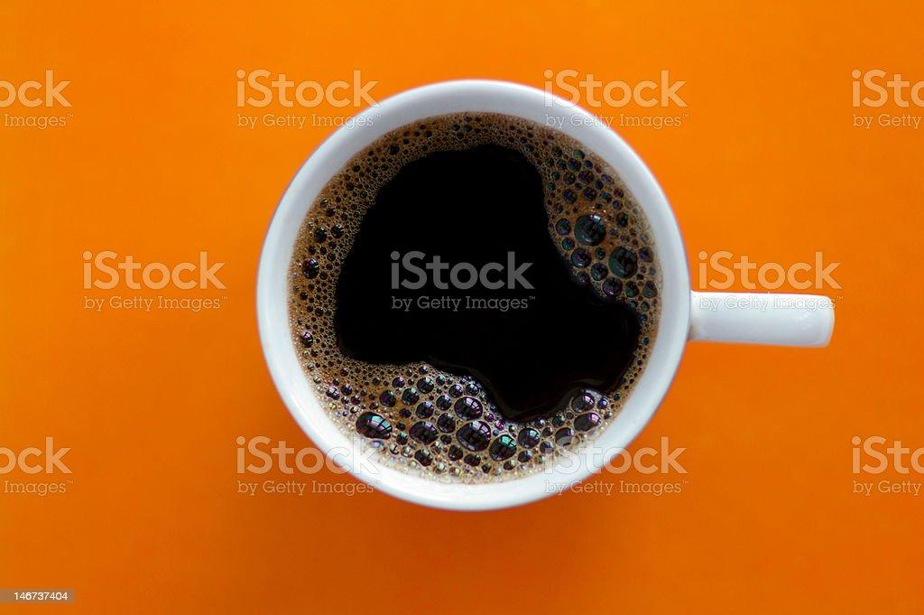 Orange coffee royalty-free stock photo