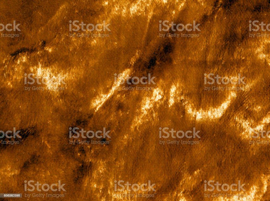 Orange color fur surface stock photo