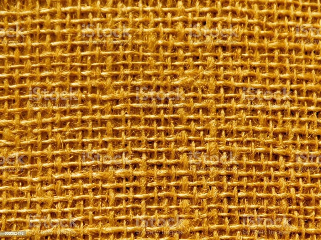 orange color hessian sack texture stock photo