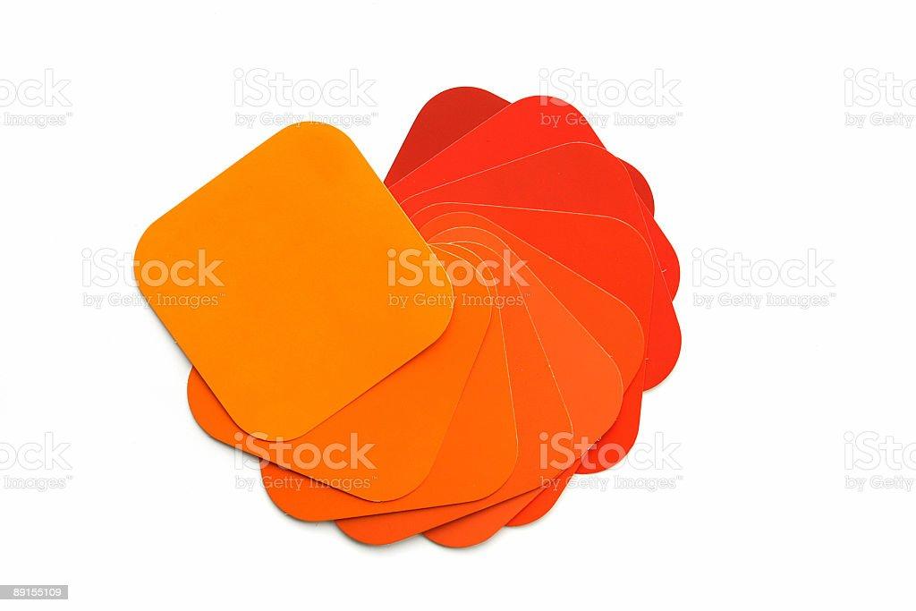Orange Color Swatch royalty-free stock photo