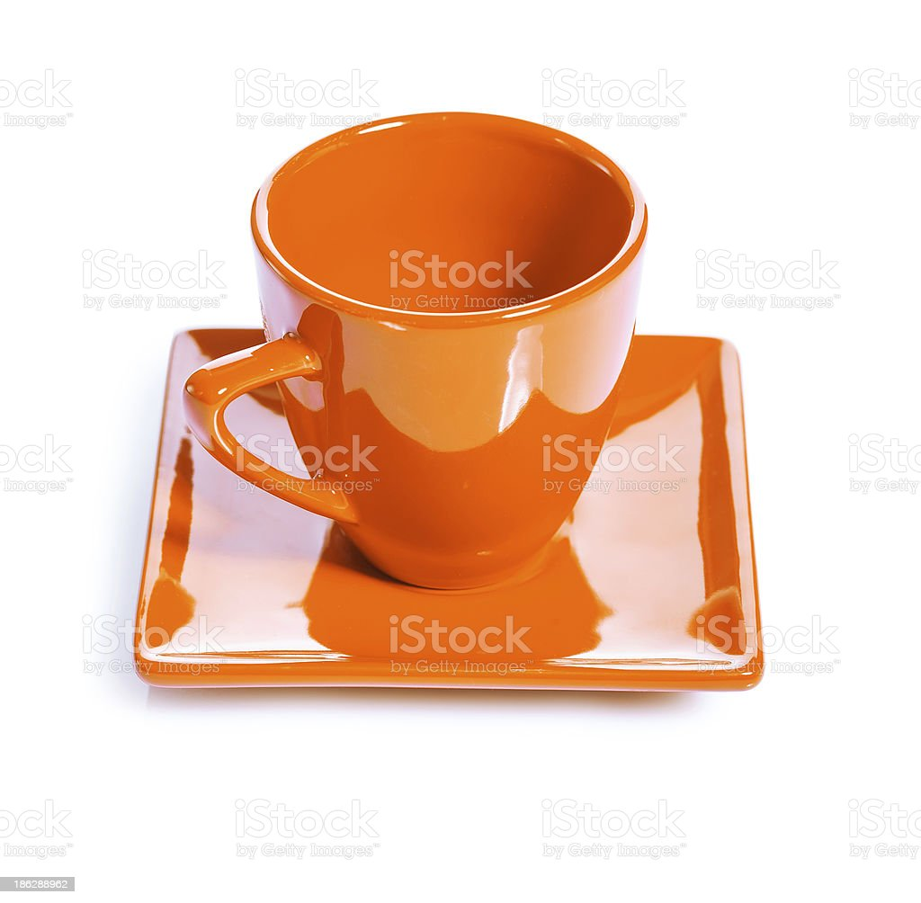 orange colored coffee cup royalty-free stock photo