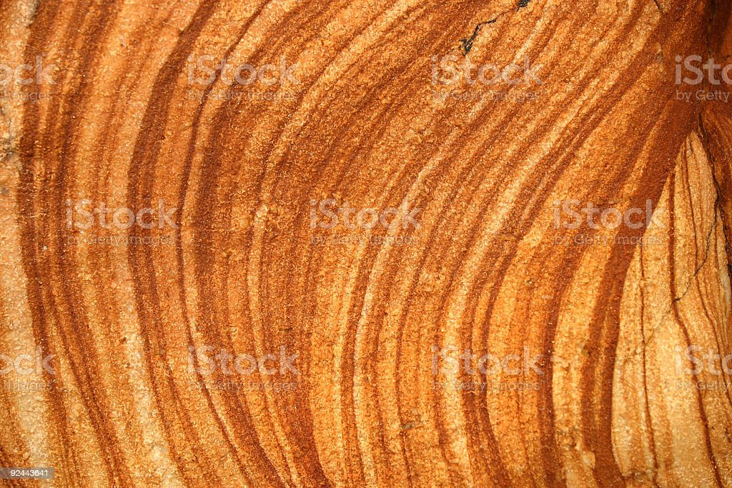Orange colored rock face IV royalty-free stock photo