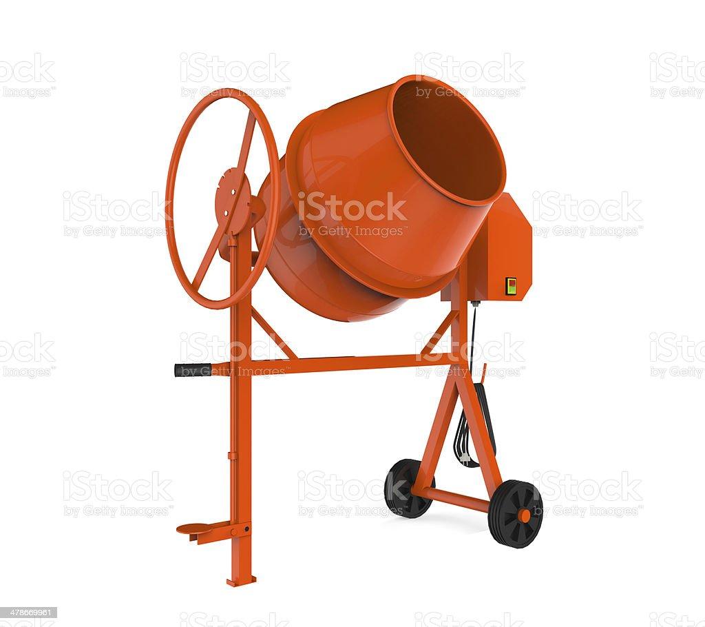 Orange Concrete Mixer stock photo
