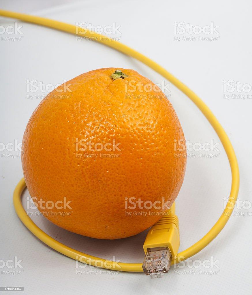 Orange connected royalty-free stock photo