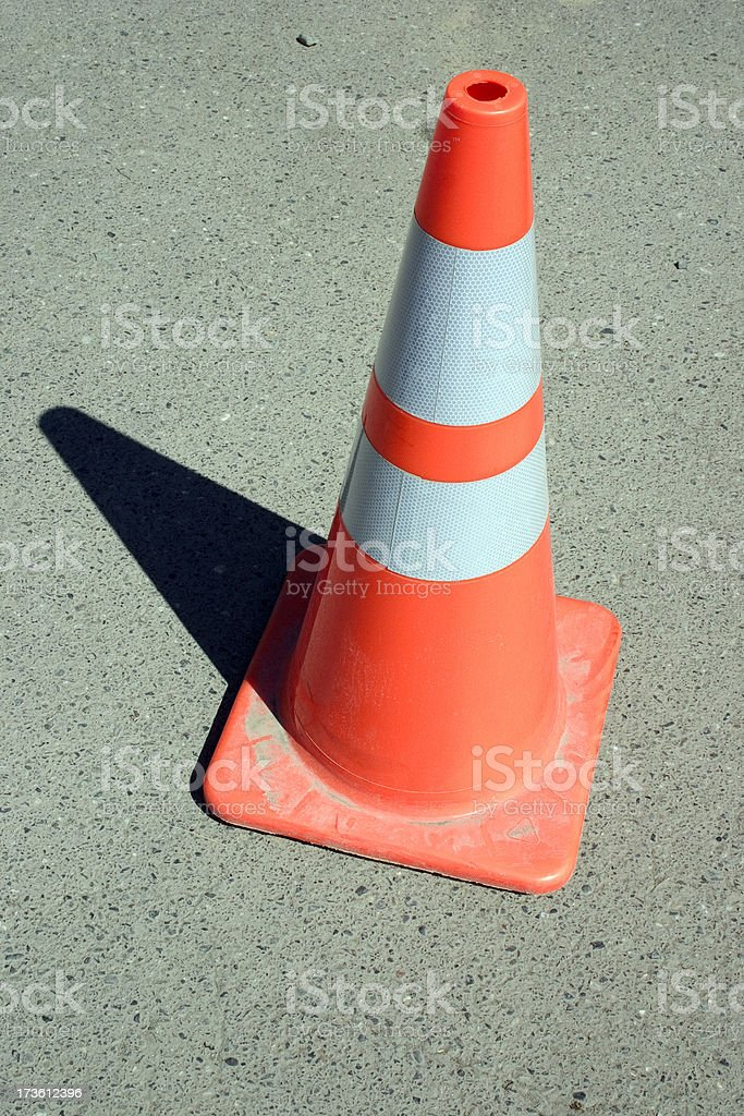 Orange Construction Traffic Cone royalty-free stock photo