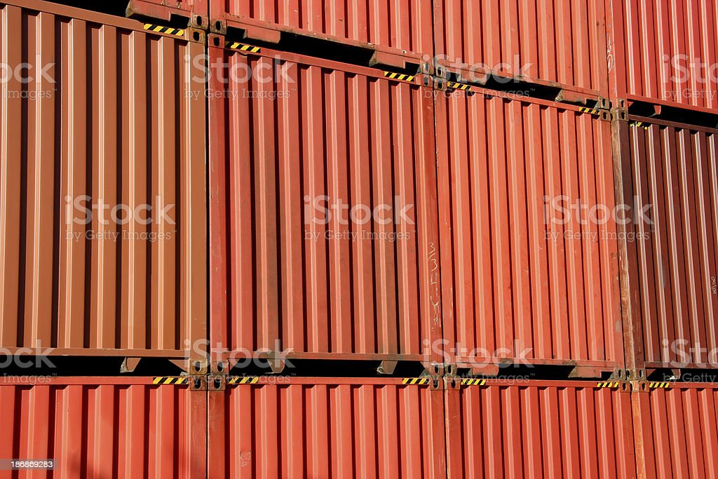 Orange Containers royalty-free stock photo