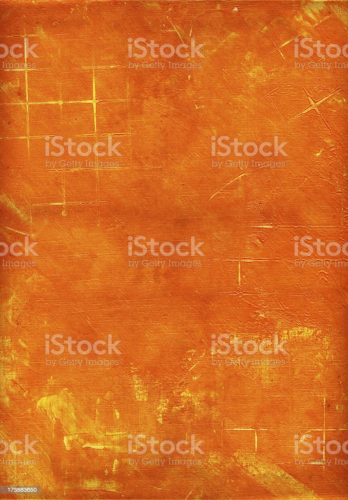 Orange Corridor Poster stock photo