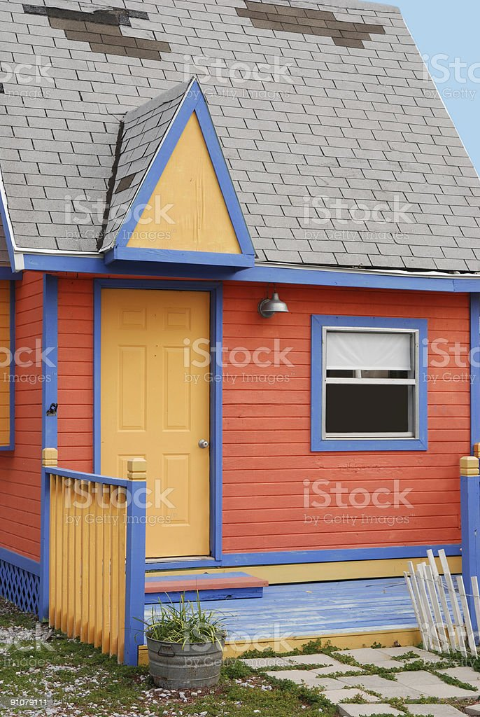 Orange Cottage Rental stock photo