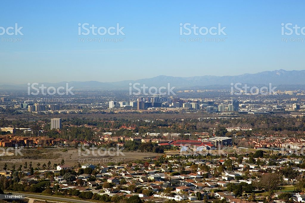 Orange County City View stock photo