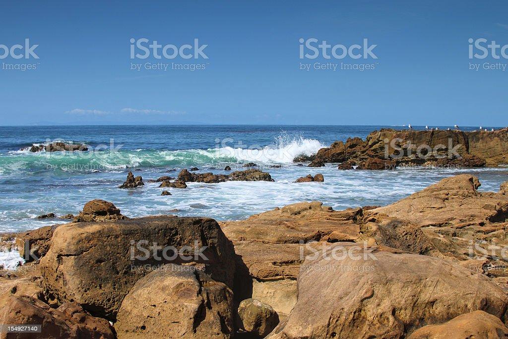 Orange County Coastline royalty-free stock photo