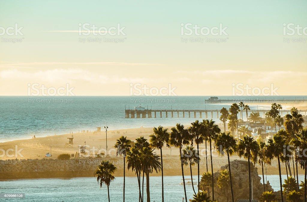 Orange County Coastline stock photo