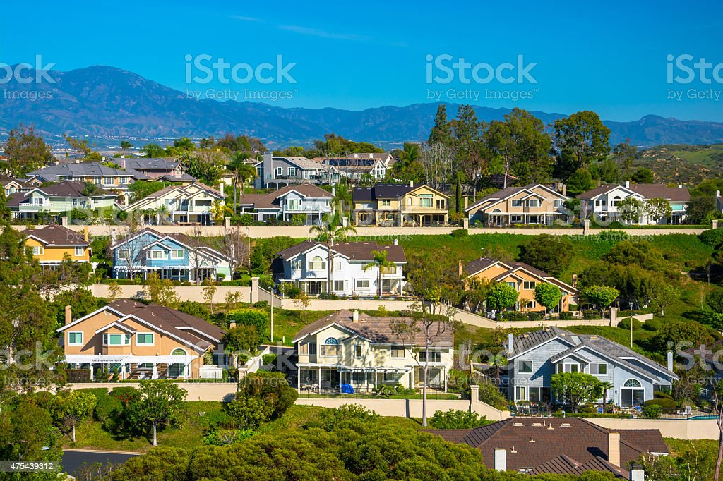 Orange County Houses stock photo
