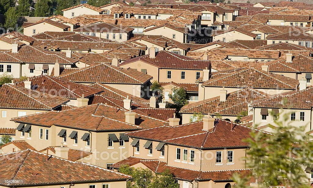 RED TILE ROOFS- Orange County royalty-free stock photo