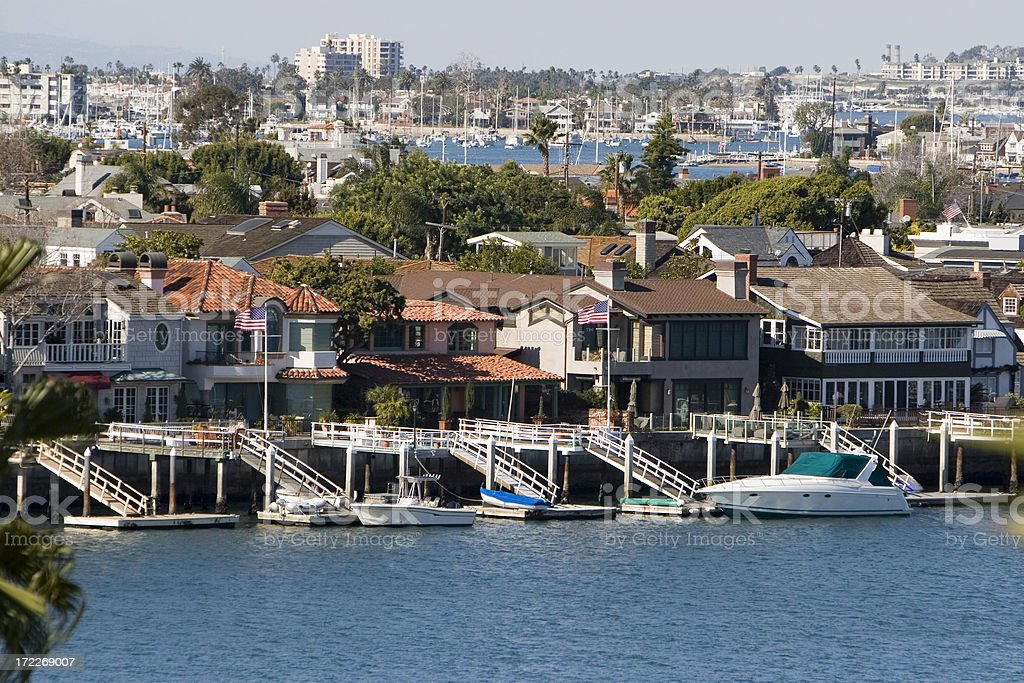 BAY HOUSES- Orange County stock photo