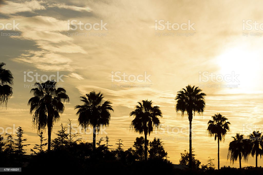 Orange County Sunset stock photo