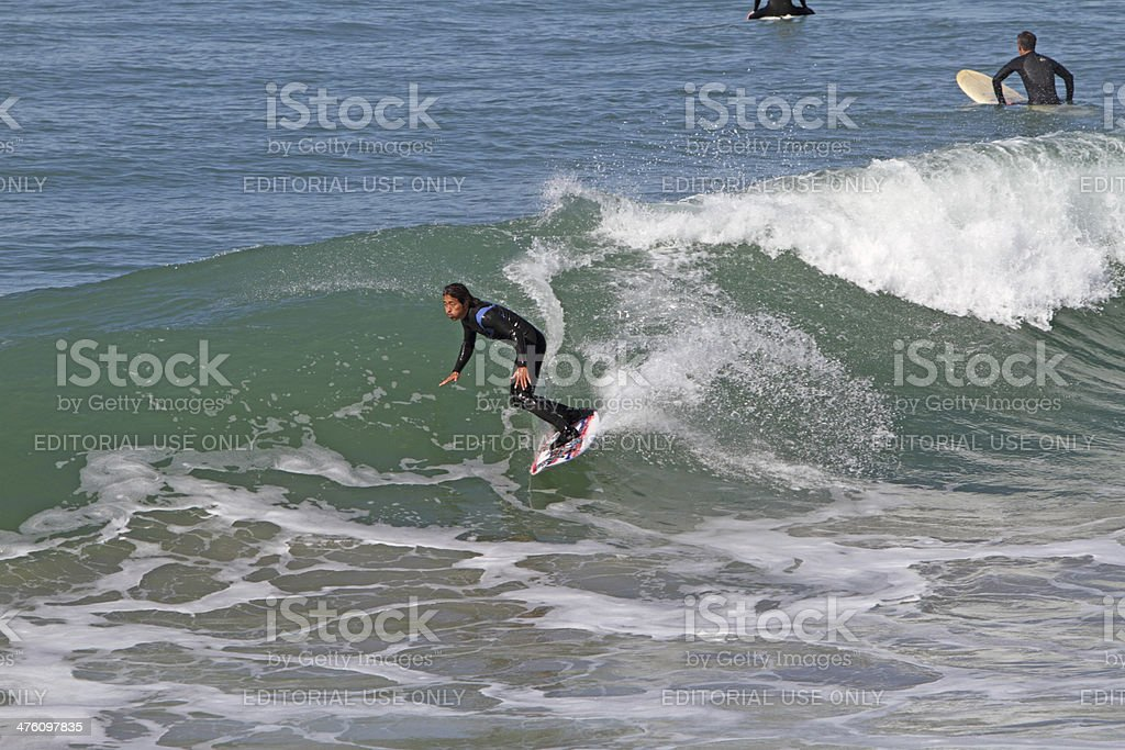 Orange County surfing royalty-free stock photo