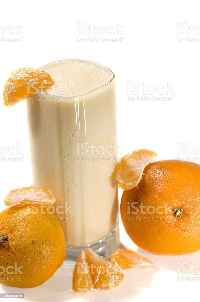 Orange Cream Smoothie royalty-free stock photo