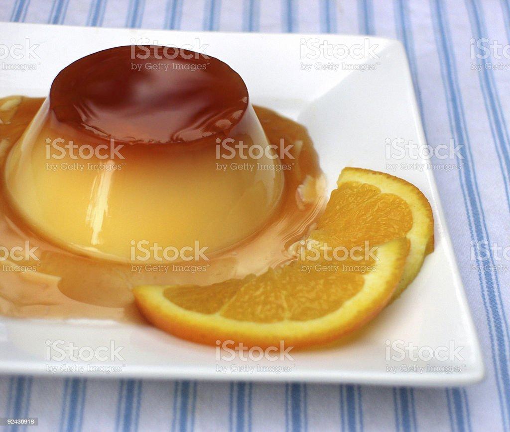 Orange Creme Caramel royalty-free stock photo